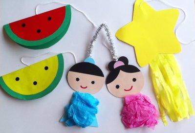 七夕飾りの作り方!保育園児・幼稚園児と一緒につくる・楽しむアイディア