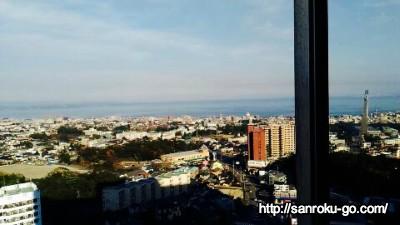杉乃井ホテルの本館から見た外の景色