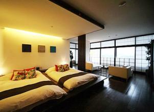 杉乃井ホテル中館3階の部屋(シーダフロア)